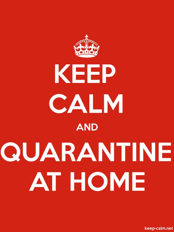 KEEP CALM AND QUARANTINE AT HOME - white/red - Default (600x800)