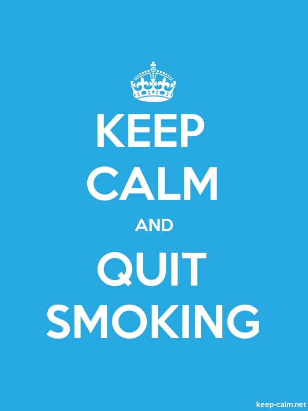 KEEP CALM AND QUIT SMOKING - white/blue - Default (600x800)