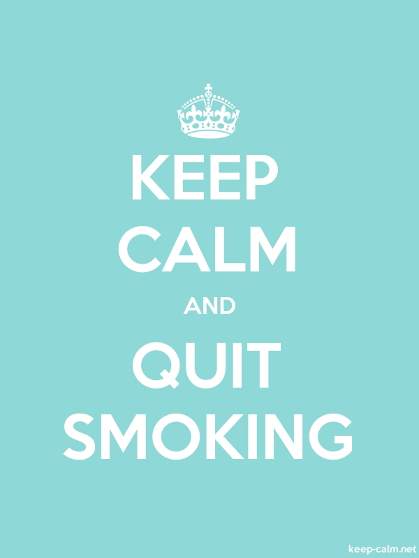 KEEP CALM AND QUIT SMOKING - white/lightblue - Default (600x800)