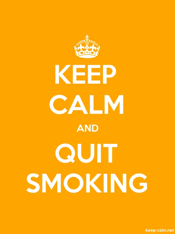 KEEP CALM AND QUIT SMOKING - white/orange - Default (600x800)