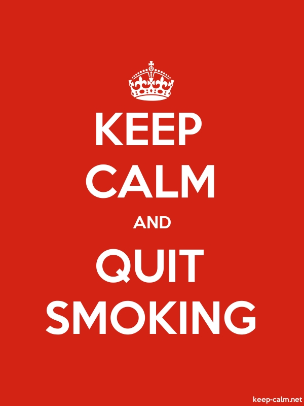 KEEP CALM AND QUIT SMOKING - white/red - Default (600x800)