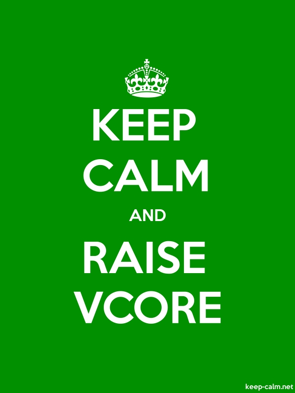 KEEP CALM AND RAISE VCORE - white/green - Default (600x800)
