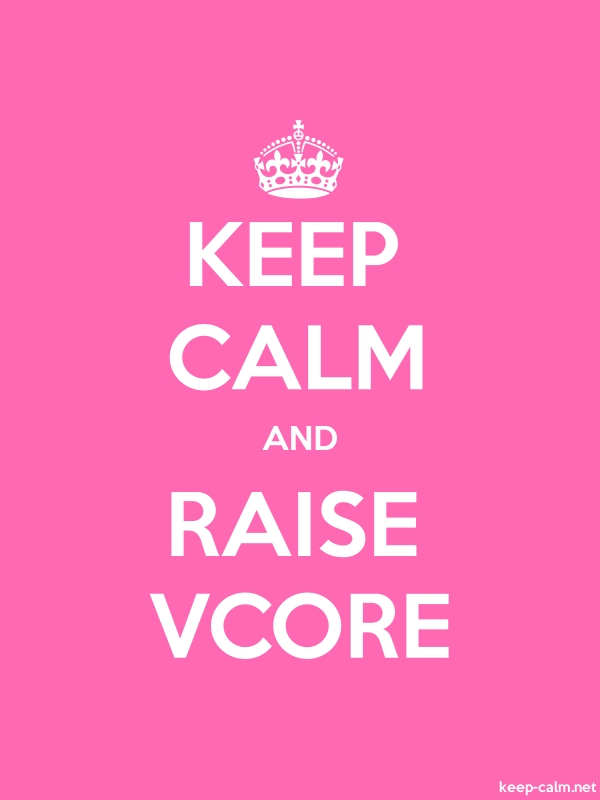 KEEP CALM AND RAISE VCORE - white/pink - Default (600x800)