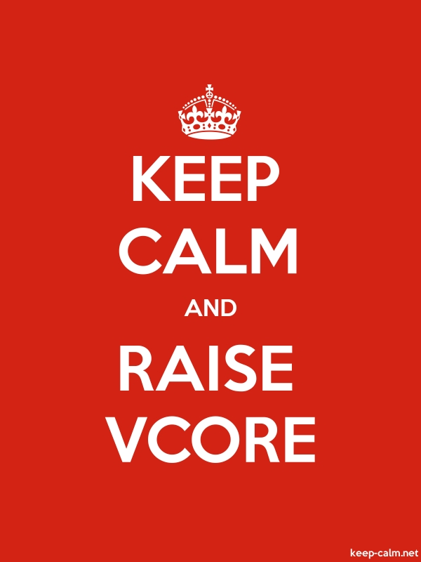 KEEP CALM AND RAISE VCORE - white/red - Default (600x800)