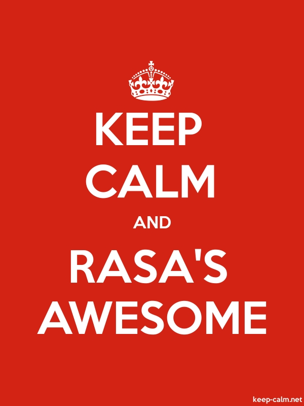 KEEP CALM AND RASA'S AWESOME - white/red - Default (600x800)