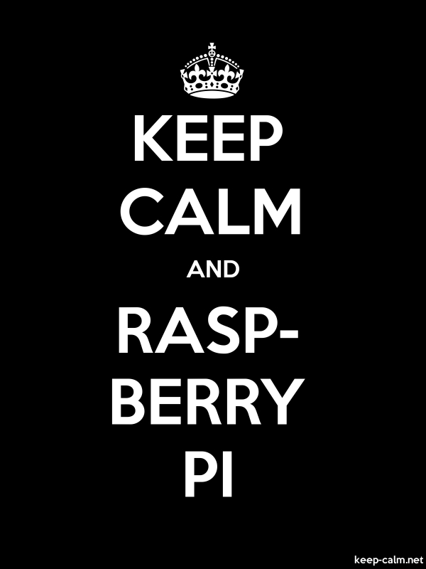 KEEP CALM AND RASP- BERRY PI - white/black - Default (600x800)