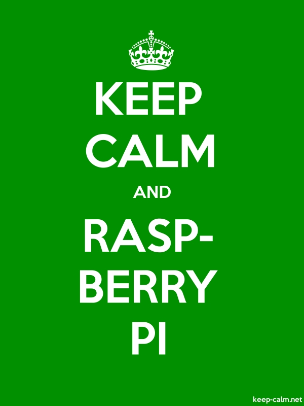 KEEP CALM AND RASP- BERRY PI - white/green - Default (600x800)