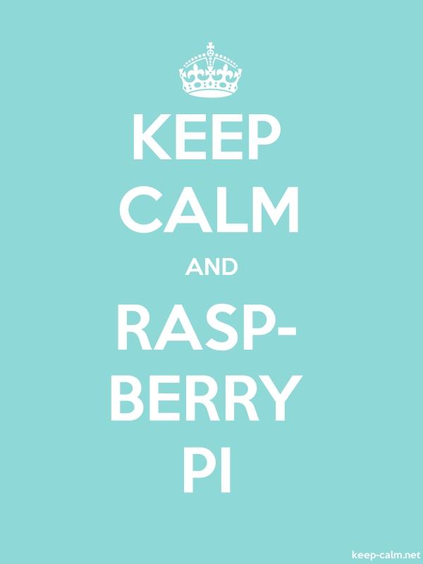 KEEP CALM AND RASP- BERRY PI - white/lightblue - Default (600x800)