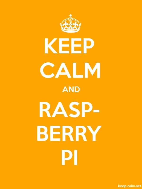 KEEP CALM AND RASP- BERRY PI - white/orange - Default (600x800)