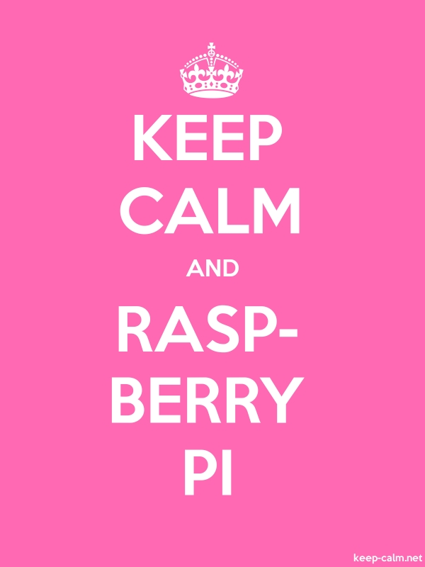 KEEP CALM AND RASP- BERRY PI - white/pink - Default (600x800)