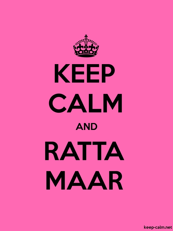 KEEP CALM AND RATTA MAAR - black/pink - Default (600x800)