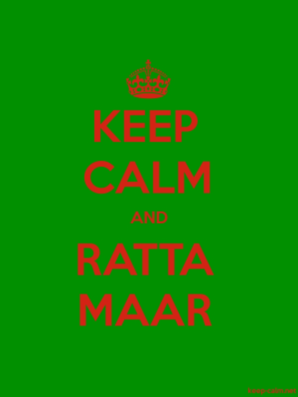 KEEP CALM AND RATTA MAAR - red/green - Default (600x800)