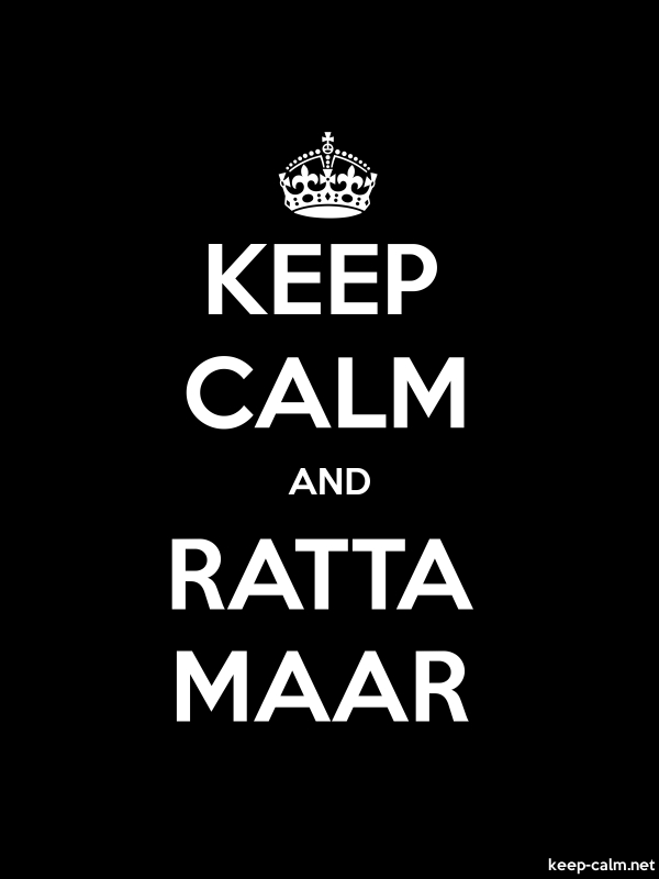 KEEP CALM AND RATTA MAAR - white/black - Default (600x800)