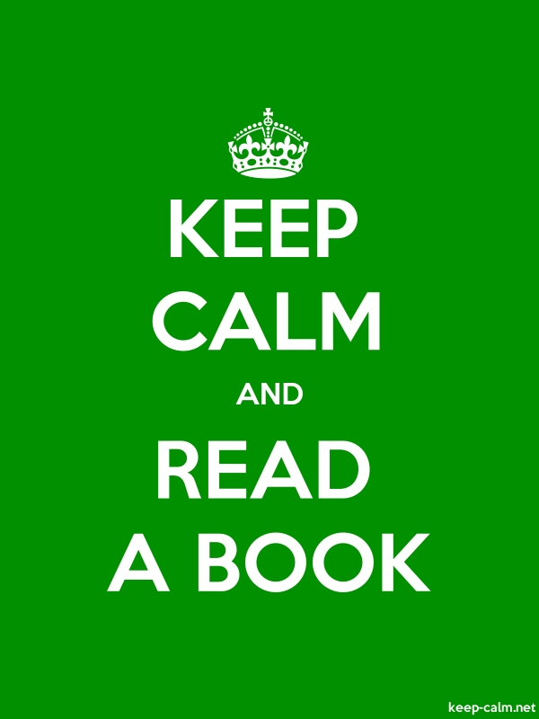KEEP CALM AND READ A BOOK - white/green - Default (600x800)