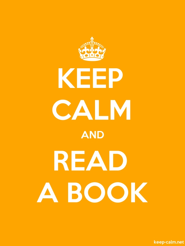 KEEP CALM AND READ A BOOK - white/orange - Default (600x800)