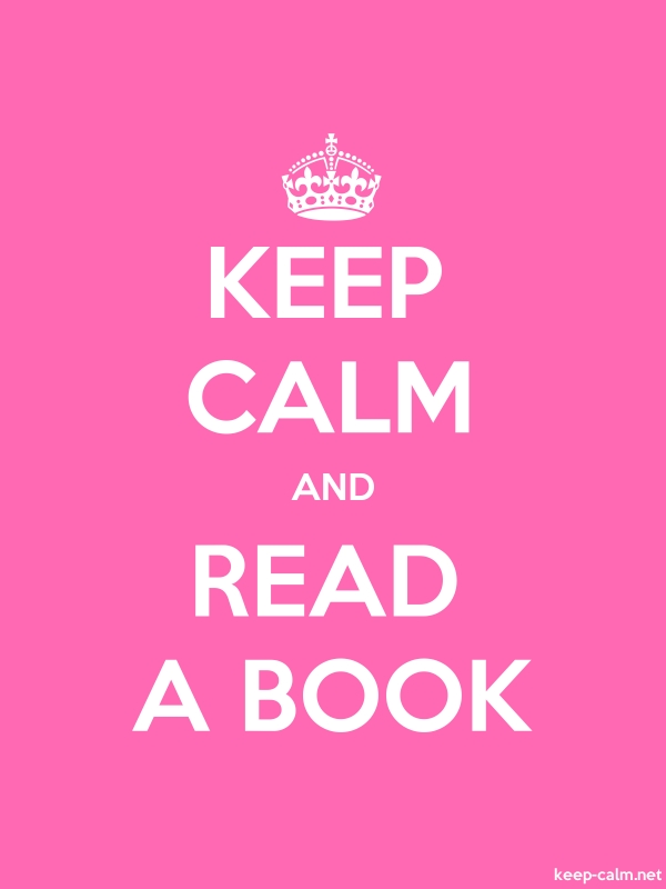 KEEP CALM AND READ A BOOK - white/pink - Default (600x800)