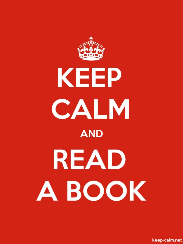 KEEP CALM AND READ A BOOK - white/red - Default (600x800)