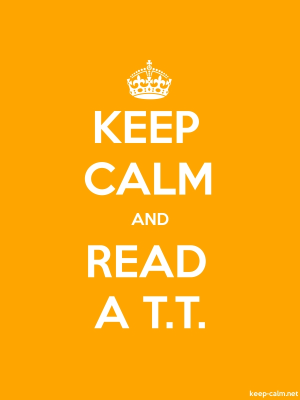 KEEP CALM AND READ A T.T. - white/orange - Default (600x800)