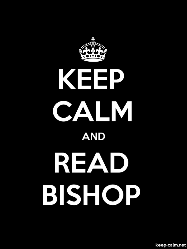 KEEP CALM AND READ BISHOP - white/black - Default (600x800)