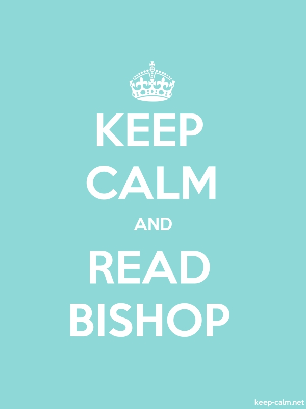 KEEP CALM AND READ BISHOP - white/lightblue - Default (600x800)