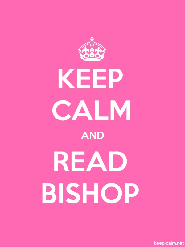 KEEP CALM AND READ BISHOP - white/pink - Default (600x800)