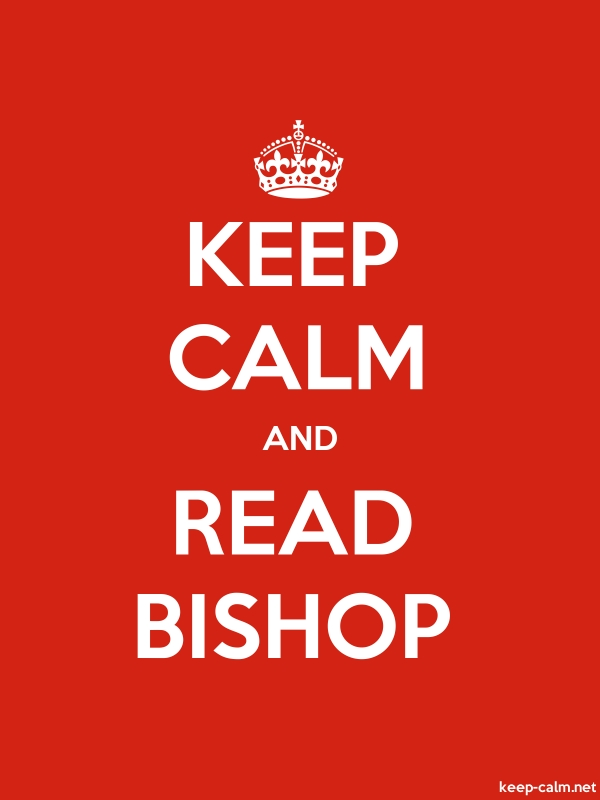 KEEP CALM AND READ BISHOP - white/red - Default (600x800)
