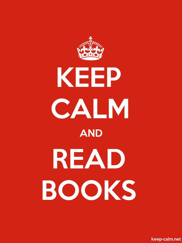 KEEP CALM AND READ BOOKS - white/red - Default (600x800)