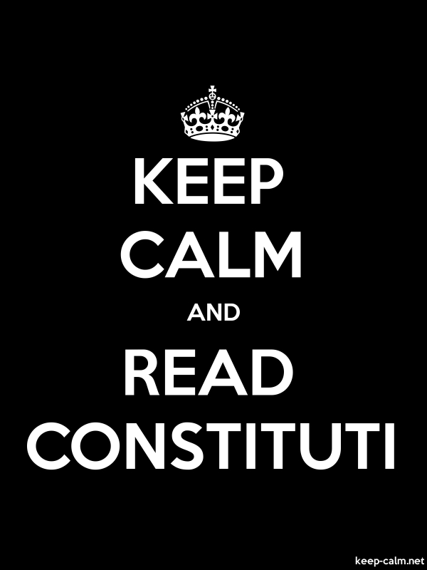 KEEP CALM AND READ CONSTITUTI - white/black - Default (600x800)