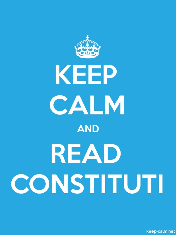KEEP CALM AND READ CONSTITUTI - white/blue - Default (600x800)