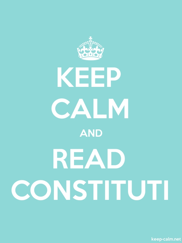 KEEP CALM AND READ CONSTITUTI - white/lightblue - Default (600x800)