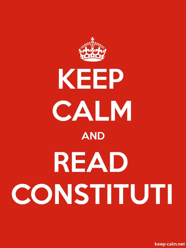 KEEP CALM AND READ CONSTITUTI - white/red - Default (600x800)