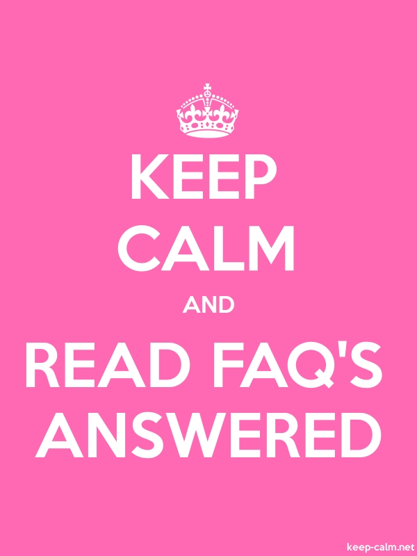 KEEP CALM AND READ FAQ'S ANSWERED - white/pink - Default (600x800)