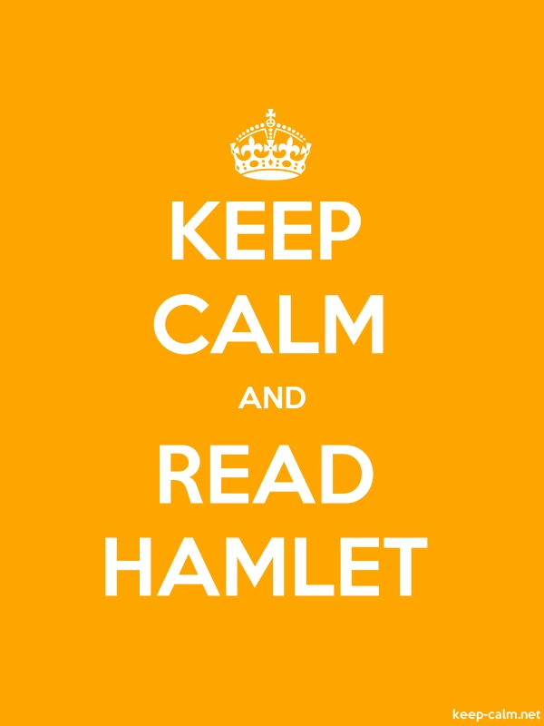 KEEP CALM AND READ HAMLET - white/orange - Default (600x800)