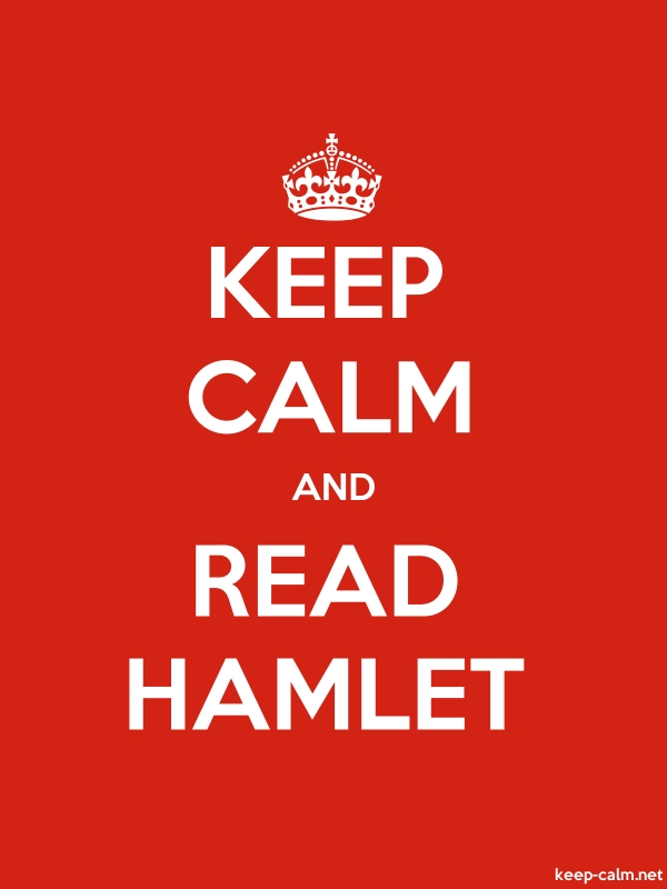 KEEP CALM AND READ HAMLET - white/red - Default (600x800)