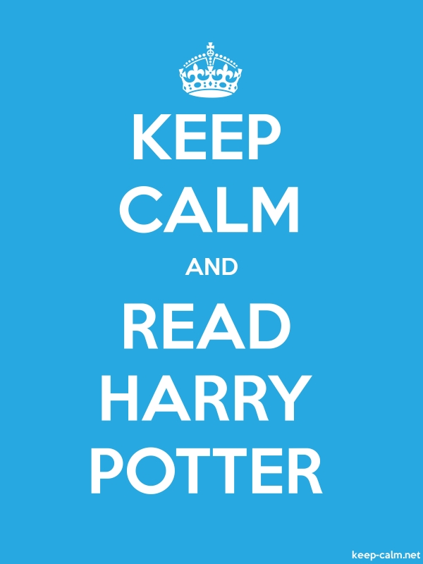 KEEP CALM AND READ HARRY POTTER - white/blue - Default (600x800)