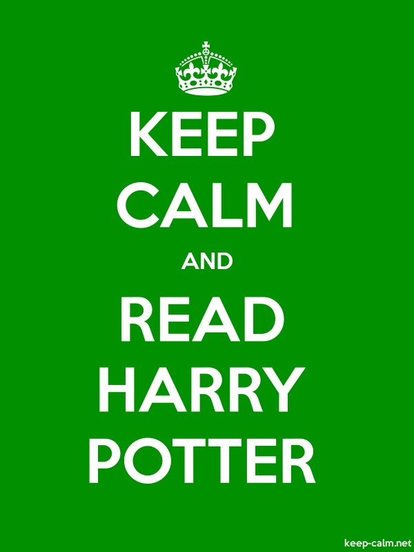 KEEP CALM AND READ HARRY POTTER - white/green - Default (600x800)