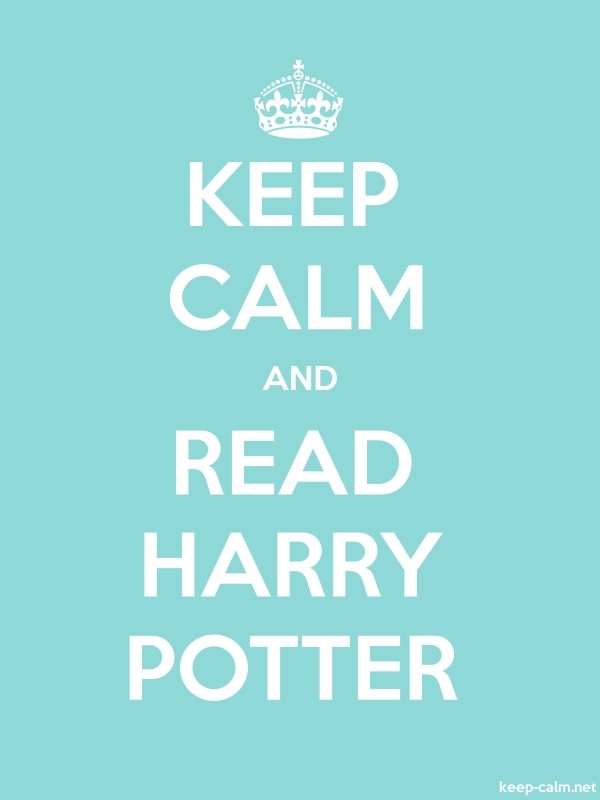 KEEP CALM AND READ HARRY POTTER - white/lightblue - Default (600x800)