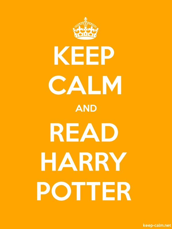 KEEP CALM AND READ HARRY POTTER - white/orange - Default (600x800)