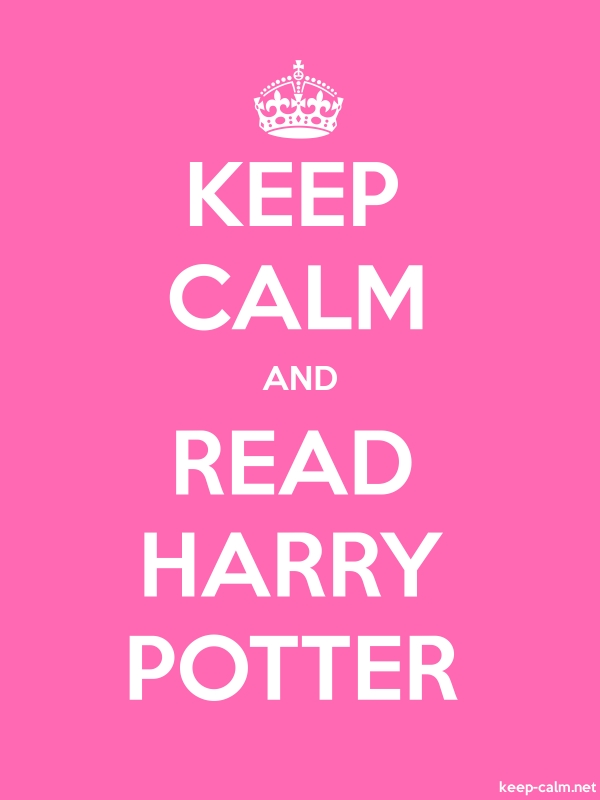KEEP CALM AND READ HARRY POTTER - white/pink - Default (600x800)