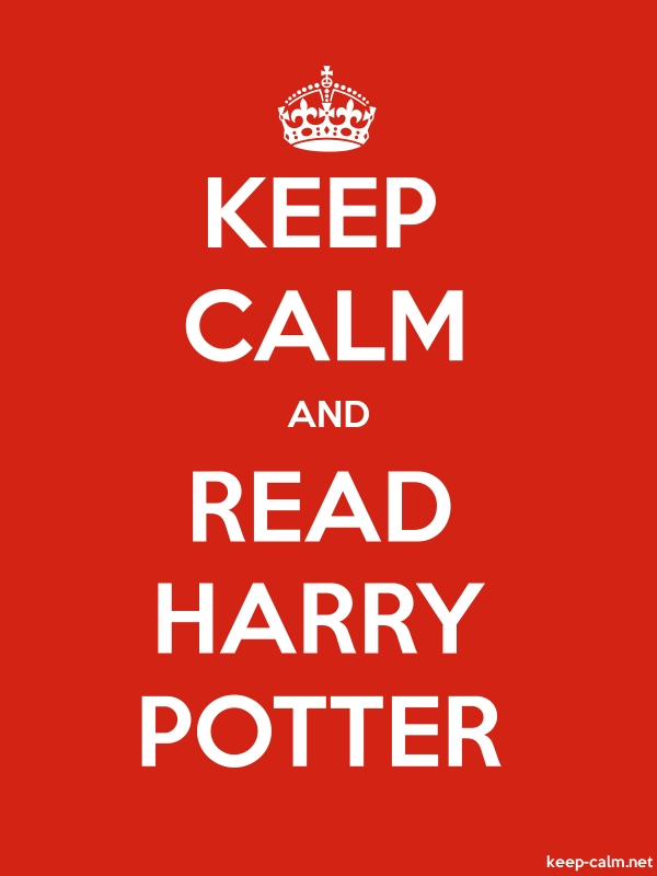 KEEP CALM AND READ HARRY POTTER - white/red - Default (600x800)