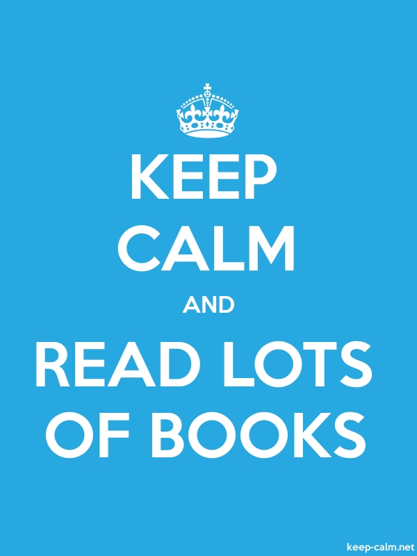 KEEP CALM AND READ LOTS OF BOOKS - white/blue - Default (600x800)