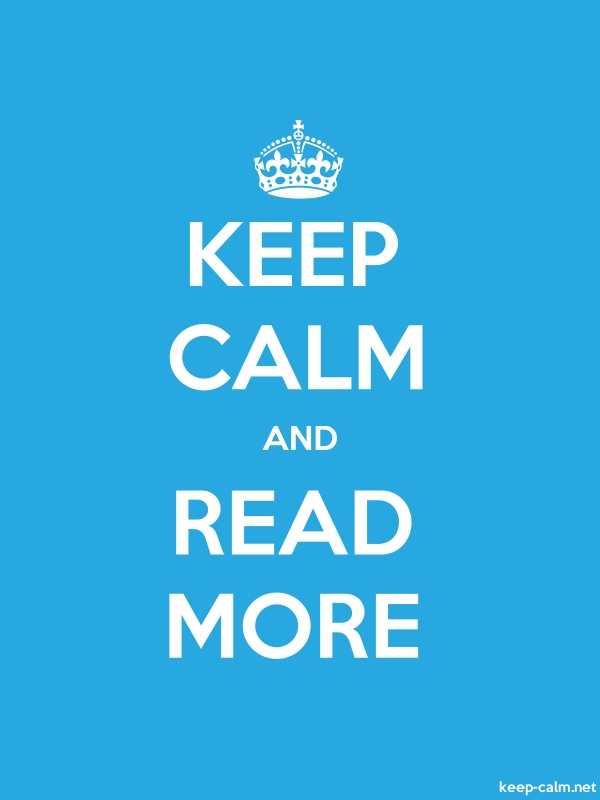 KEEP CALM AND READ MORE - white/blue - Default (600x800)
