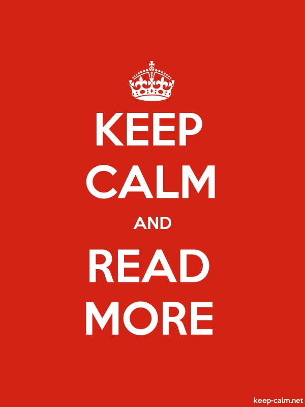 KEEP CALM AND READ MORE - white/red - Default (600x800)