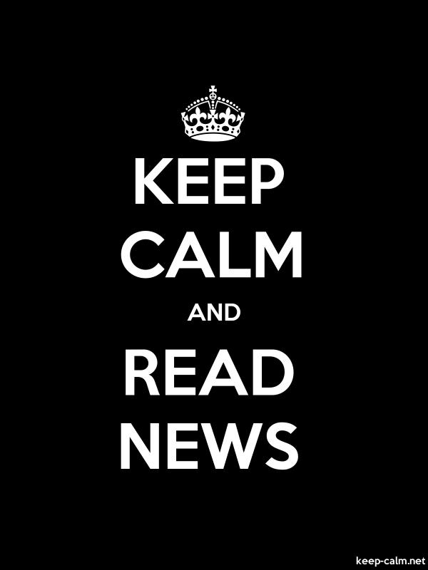 KEEP CALM AND READ NEWS - white/black - Default (600x800)
