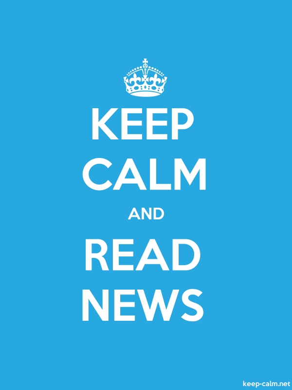 KEEP CALM AND READ NEWS - white/blue - Default (600x800)