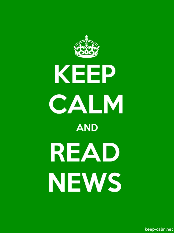 KEEP CALM AND READ NEWS - white/green - Default (600x800)