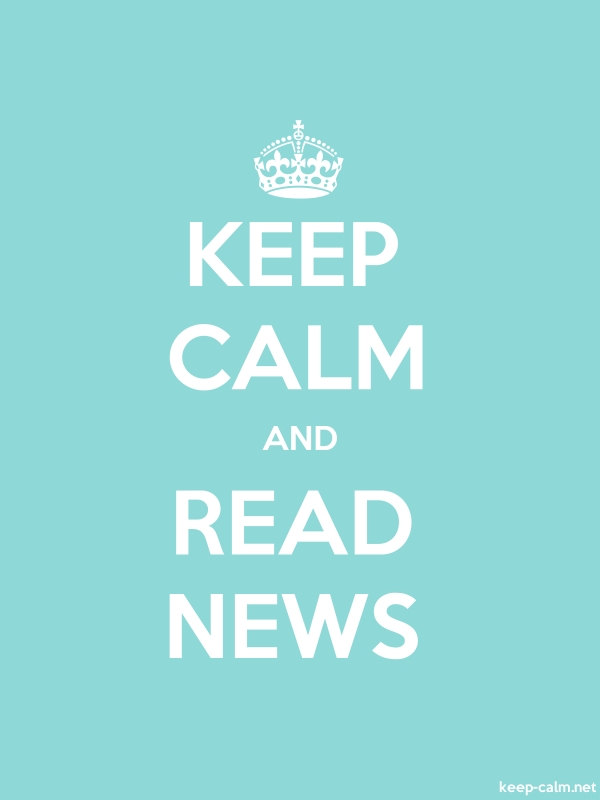 KEEP CALM AND READ NEWS - white/lightblue - Default (600x800)