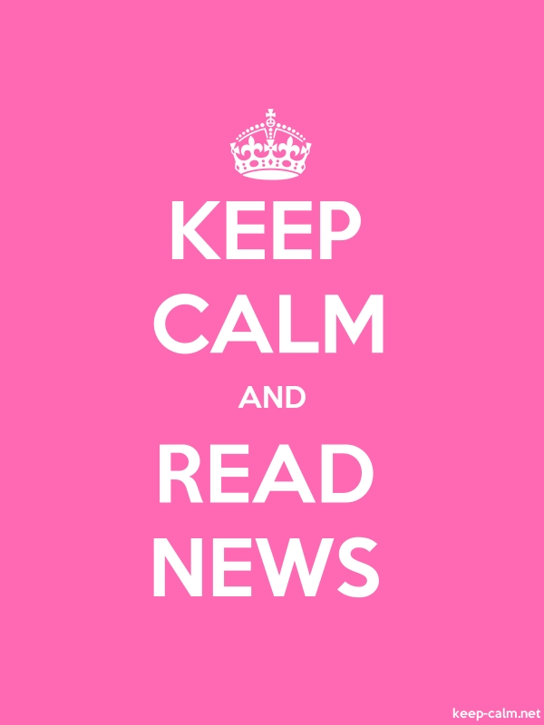 KEEP CALM AND READ NEWS - white/pink - Default (600x800)