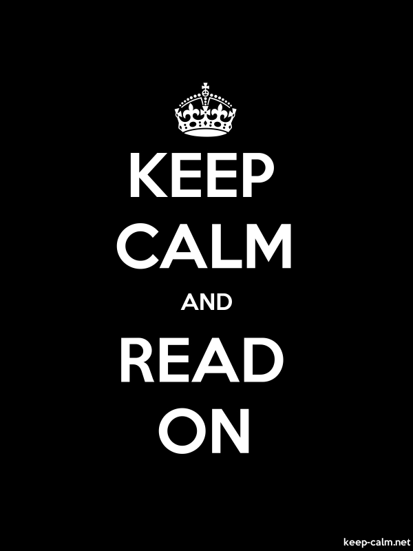 KEEP CALM AND READ ON - white/black - Default (600x800)