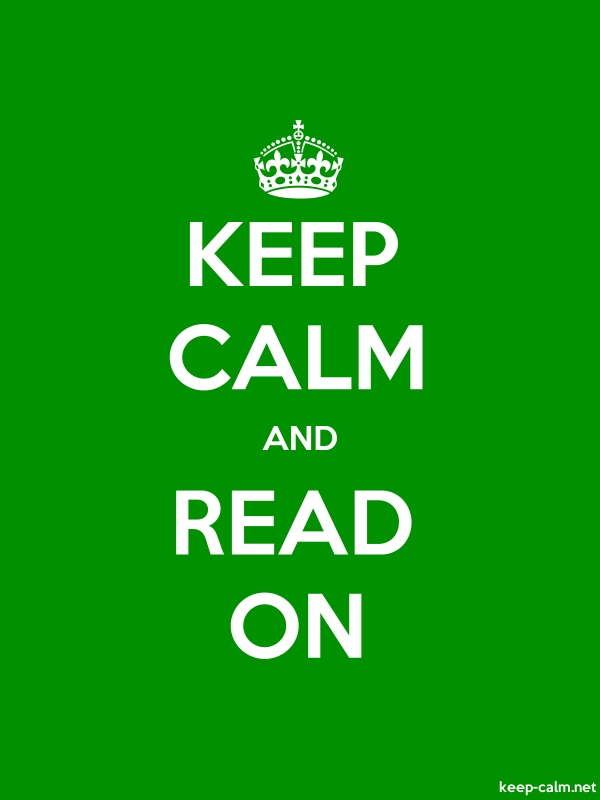 KEEP CALM AND READ ON - white/green - Default (600x800)